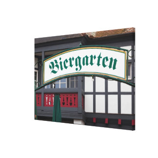 Biergarten Zeichen, Deutschland Leinwanddruck