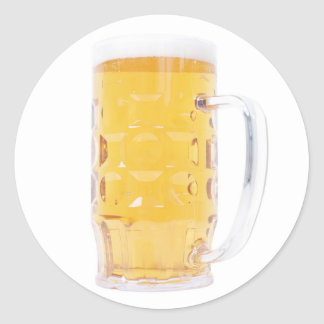 Bierkrug Bier-Tasse Runder Aufkleber