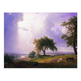 Bierstadt Kalifornien Frühlings-Postkarte Postkarte