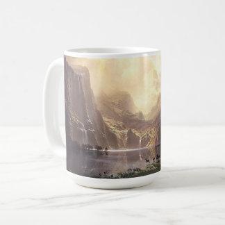 Bierstadt Rotwild-Waterfalls See-Sierra Tier-Tasse Kaffeetasse