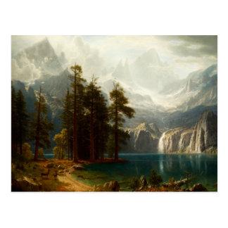 Bierstadt Sierra Nevadas Postkarte