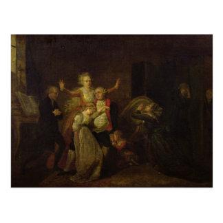 Bietender Abschied Louis XVI zu seiner Familie Postkarte