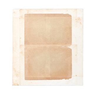 Bifold Filo Vintages altes schauendes Papierbrown Schmierblock
