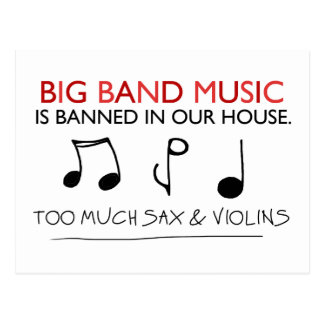 Big Band-Musik Postkarte