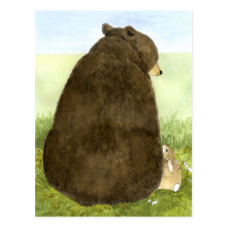 Big Bear u. wenig Häschen-Postkarte Postkarte