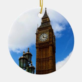 Big Ben doppelseitig Rundes Keramik Ornament