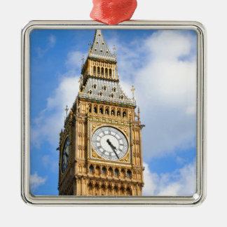 Big Ben in London, Großbritannien Silbernes Ornament
