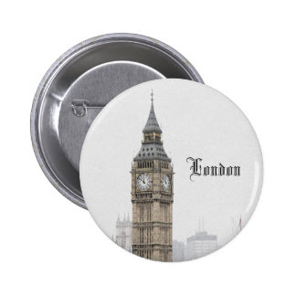 Big Ben London (Wasserfarbe) Anstecknadelbutton