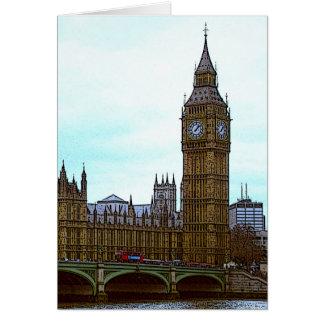 Big Ben, Palast von Westminster, London, Karte