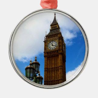 Big Ben Silbernes Ornament