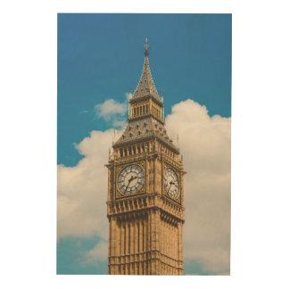 Big Ben-Turm-Westminster-Palast, London, England Holzleinwand