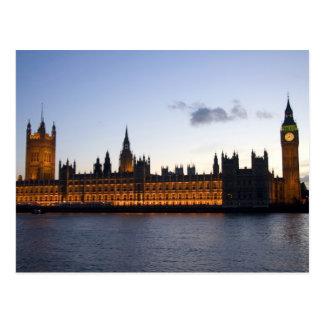 Big Ben und die Häuser des Parlaments in der Stadt Postkarte