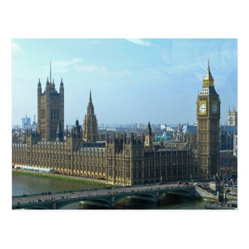 Big Ben und Häuser des Parlaments - London Postkarte