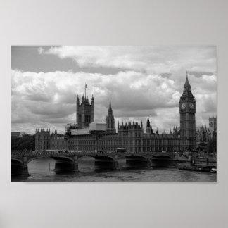 Big Ben und Parlament (London) Poster