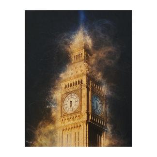 Big Ben, Westminster-Palast, London England Holzleinwand