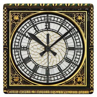 Big Ben-Ziffernblatt Quadratische Wanduhr