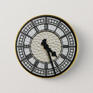 Big Ben-Ziffernblatt Runder Button 5,7 Cm