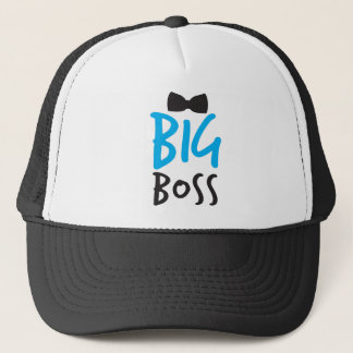 Big Boss mit schwarzer Krawatte Truckerkappe