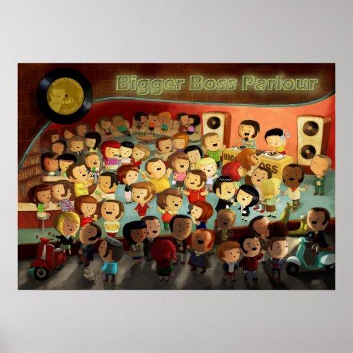 Big Boss Reggae-Party Plakate