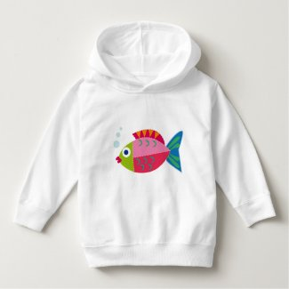 """Big fish"" hood sweater for infants"