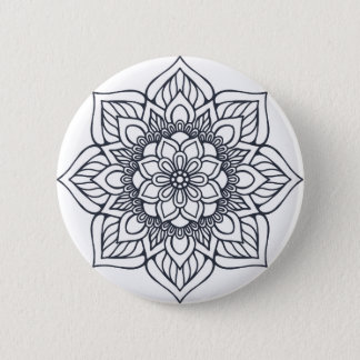 Big Flower Runder Button 5,7 Cm