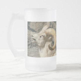 Big Horn-Schaf-Lachen Mattglas Bierglas