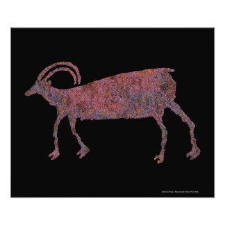 Big Horn-Schaf-Petroglyphe Fotodruck