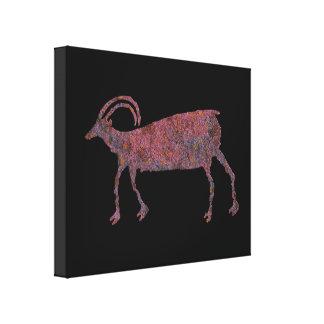 Big Horn-Schaf-Petroglyphe Leinwanddruck