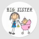 Big Sister with Little Sis Tshirts Sticker