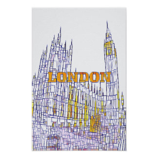 BigBen Stained Glass Poster