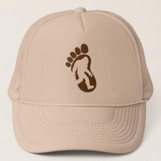 Bigfoot-Abdruck-Silhouette Sasquatch Truckerkappe