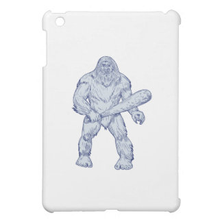 Bigfoot, der das Verein-stehende Zeichnen hält iPad Mini Hülle