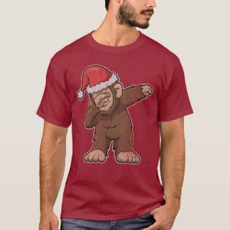 Bigfoot, der Squatch Weihnachten betupft T-Shirt