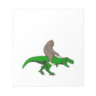 Bigfoot, der T Rex reitet Notizblock