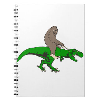 Bigfoot, der T Rex reitet Spiral Notizblock