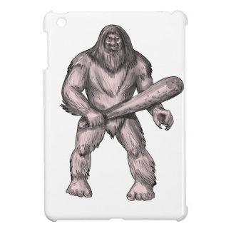 Bigfoot, der Verein-stehende Tätowierung hält iPad Mini Hülle