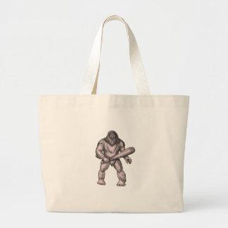 Bigfoot, der Verein-stehende Tätowierung hält Jumbo Stoffbeutel