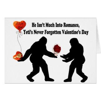 Bigfoot erinnert sich an Valentinstag Karte