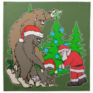Bigfoot-Familie und Sankt Serviette