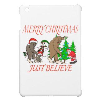 Bigfoot-Familien-Weihnachten 2 iPad Mini Hülle