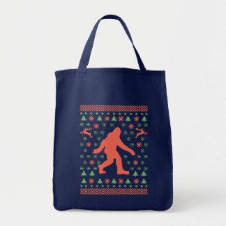 Bigfoot-Feiertags-Strickjacke-T-Shirts Tragetasche