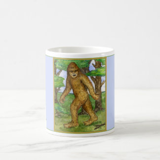 Bigfoot in der Holz-Tasse Kaffeetasse
