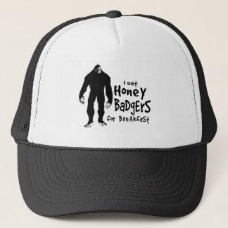 Bigfoot isst Honig-Dachse zum Frühstück Truckerkappe