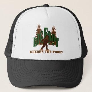 Bigfoot Sasquatch, wo gekackte ist? Hut Truckerkappe