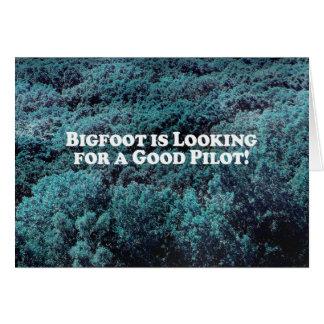 Bigfoot sucht einen guten grundlegenden Piloten - Karte