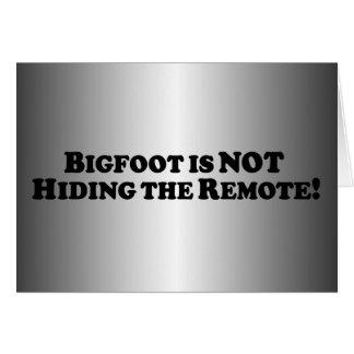 Bigfoot versteckt nicht die grundlegende karte