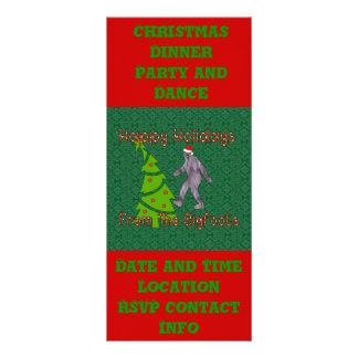 Bigfoot-Weihnachten Werbekarte