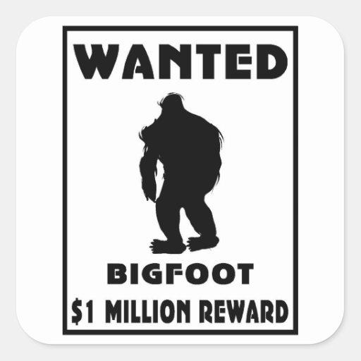Bigfoot wollte Plakat Sticker