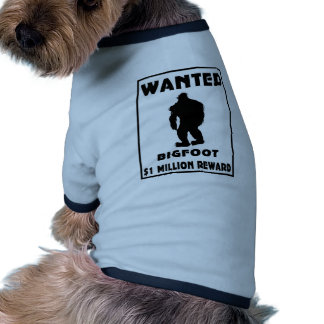Bigfoot wollte Plakat Hund T Shirts