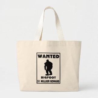 Bigfoot wollte Plakat Leinentaschen